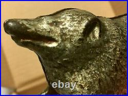 Circa 1910's Cast Iron Possum Bank Made by Arcade Moore Book #561 Rated D