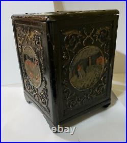 Columbian Exposition, Chicago 1893 antique cast iron safe bank
