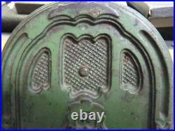 Crosley Radio Cast Iron Metal Still Bank, Green 4 5/16 Kenton Toys 1930s USA