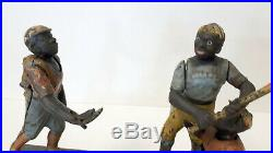 Darktown Battery 1888 Cast Iron Baseball Players Mechanical Bank-Great Display