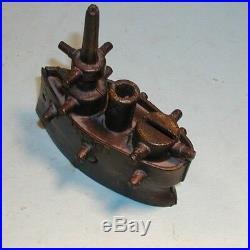 Early1900's Maine Battleship Cast Iron Bank Original Paint