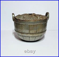Early 1894 Original Nicol & Co. Cast Iron Rare Fruit Basket Still Bank
