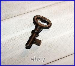Genuine Antique Original Shepard Hardware Cast Iron Mechanical Bank Barrel Key