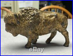 Hairy Buffalo Very Rare Antique Cast Iron Still Bank