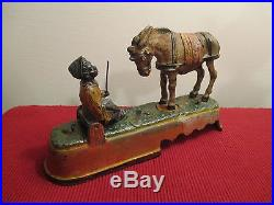 I ALWAYS DID'SPISE A MULE Mechanical Bank Cast Iron Antique c1890's