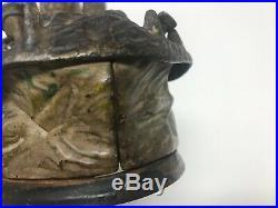 JE Stevens Eagle Bank, Antique, Mechanical, Cast Iron, 1888