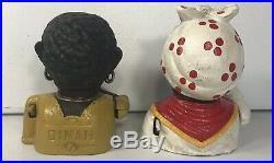 J. E. Stevens 1869 Aunt Jemima 1890 Dinah Cast Iron RARE ORIGINAL Antiques Banks