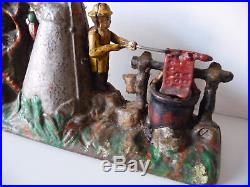 J. & E. Stevens 1915 Boy Scout Camp Cast Iron Mechanical Bank Highly Collectible