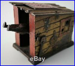 J. E. Stevens Black Americana Slave Shack Cast Iron Mechanical Bank 1885 C VIDEO