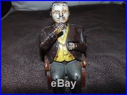 J. & E. Stevens Co. 1878 Tammany Hall Mechanical Cast Iron Boss Tweed Coin Bank