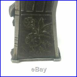 J & E Stevens Co. Cast Iron Mechanical Bank Pig in a High Chair, Pre-WWII