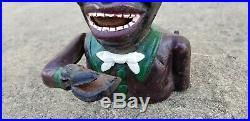 J. & E. Stevens Jolly Man High Hat Cast Iron Mechanical Coin Bank Toy 9 High