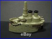 J & E Stevens Large Oregon Battleship Still Cast Iron Bank