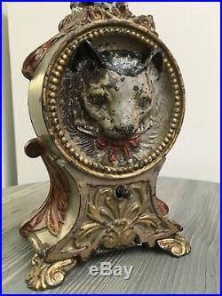 J & E Stevens Original 1891 Cat and Mouse Mechanical Cast Iron Bank