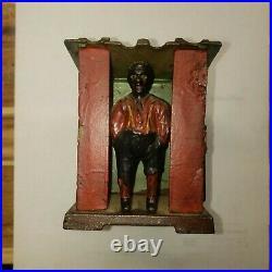 J. E. Stevens Original Cabin Cast Iron Mechanical Coin Bank/ Patent-June 1885