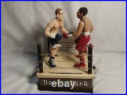 Joe Louis vs Max Schmeling Cast Iron Mechanical Boxing Bank