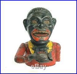 Jolly Nig Bank Original Antique Cast Iron Money Box