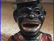 Jolly with Top Hat Mechanical Bank Cast Iron Vintage