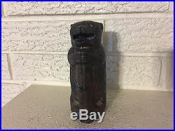 Judd Bear & Tree Stump Cast Iron Mechanical Bank C1870