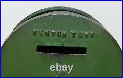 Kenton Cast Iron Still Bank Crosley Radio Original Green Paint and Closure
