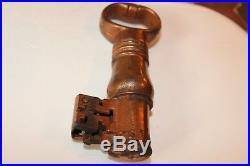 Key Bank Cast Iron Mechanical Bank Circa 1915, Seldom Seen Minty Example