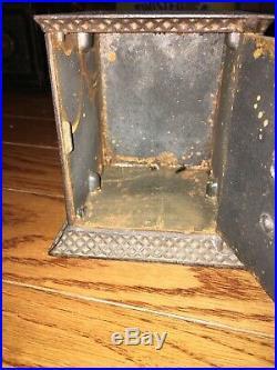 Kyser & Rex 1882 Cast Iron Arabian Safe Still Bank W Key