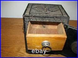 Kyser & Rex RARE Antique Cast Iron Still Bank Security Safe Deposit Orig Paint
