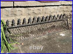 Large Antique Cast Iron & Steel Garden Fence Gate Salvage Bank Bldg Architecture