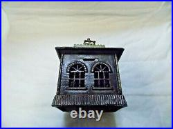 Large Antique Kenton Cast Iron State Bank Still Building Bank with Key
