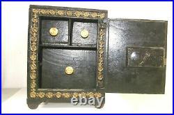 Large Antique Kyser & Rex Cast Iron Security Safe Deposit Still Bank 1888