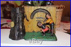 Leap Frog Cast Iron Mechanical Bank by Shepard Hardware Co, Circa 1891