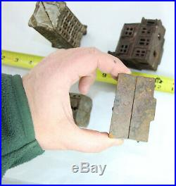 Lot of 4 Cast iron Still Banks Buildings