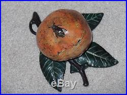 Lovely Keyser and Rex 1882 Cast Iron APPLE STILL BANK with Leaves