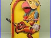 MONKEY & PARROT Mechanical Bank. Amusing Original Antique Americana Toy