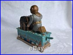 Maritime Diving Helmet Vintage Style Diver Figure Cast Iron Mechanical Coin Bank