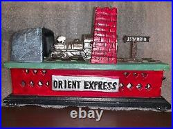 Mechanical Bank Orient Express Train Cast Iron
