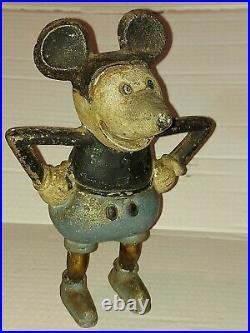 Mickey Mouse Bank Vintage NOT Cast Iron Disney Prewar Toy