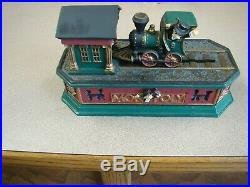Monopoly Mechanical Cast Iron Bank Uncle Pennybags Train