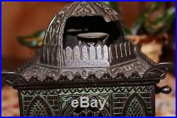 Mosque Bank Cast Iron Mechanical Bank H L Judd Mfg. Co- Rare Blue Wash Version