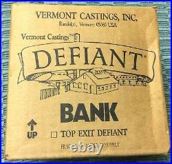 NOS Vintage Miniature Vermont Castings Defiant Wood Stove BANK