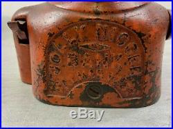 Neat Old Jolly Black Man Mechanical Cast Iron Bank Shepard Hardware Buffalo Ny