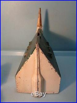 New England Church Cast Iron Bank 7 1/2 USA Pristine