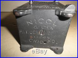 Niceold original cast ironTime Lock Puzzle Safe #326 still