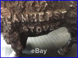 ORIGINAL Amherst Stoves BUFFALO cast iron withdollar slot Bison BANK