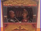 ORIGINAL cir. 1884 Punch And Judy Cast Iron Mechanical Bank, Working, Excellent