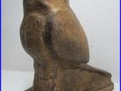 Old Cast Iron Owl Figural Bird Bank Doorstop large heavy decorative art statue