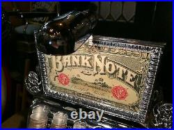 Original 1800's STAATS Cast Iron Coin Changer Bank w lit Marquee Watch Video