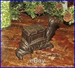 Original 1889 Antique Vtg Cast Iron Kyser Rex Kneeling Camel Still Penny Bank