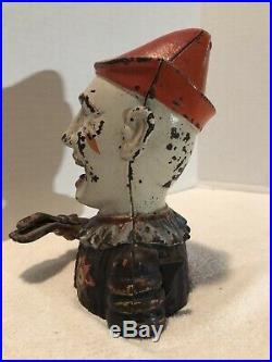 Original Antique Cast Iron HUMPTY DUMPTY Mechanical Bank