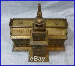 Original Antique Enterprise Independence Hall Large Cast Iron Still Bank